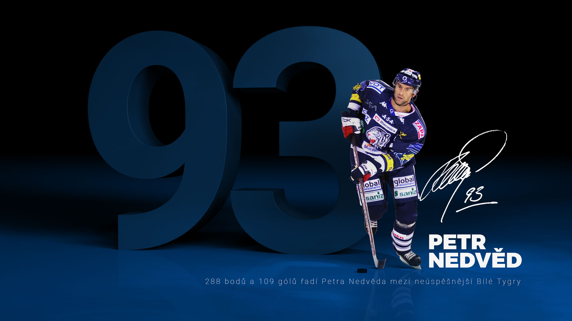 93 Petr Nedvěd - Bílí Tygři Liberec