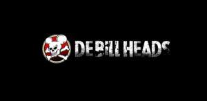 Logo skupiny De Bill Heads na černém pozadí