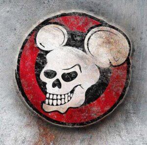 Logo | Lebka Debillheads na rezavém pozadí | Debillheads