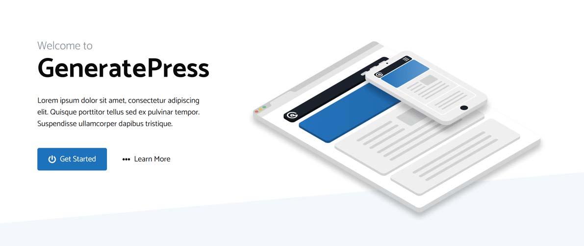 GeneratePress šablona náhled